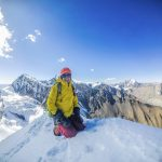 Jobush sits atop Far East Chulu in Nepal